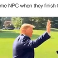 video: trump oblivion npc meme